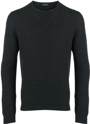 Zanone Long-Sleeve Knitted Jumper