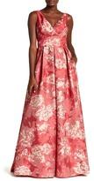 Carmen Marc Valvo Floral Ballgown Dress