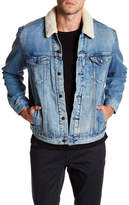 Levi's Good Faux Shearling Lined Youngstown Trucker Jacket