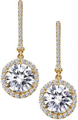 Lafonn Gold Plated Sterling Silver Simulated Diamond Dangle Earrings