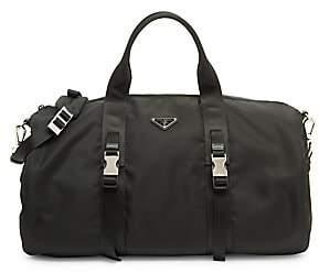 Prada Men's Leather-Trim Nylon Gym Bag