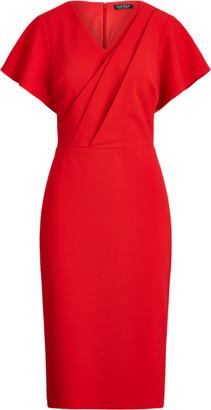 Ralph Lauren Crepe Short-Sleeve Dress