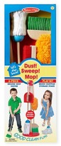 Melissa & Doug Toddler Dust, Sweep & Mop Toy Set