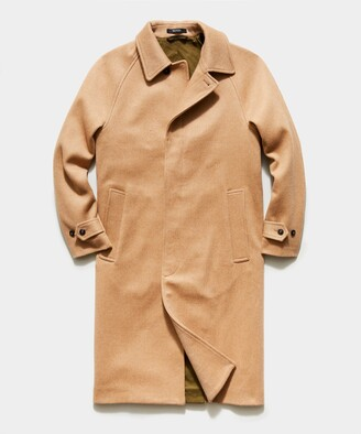 Todd Snyder Italian Balmacaan Coat in Camel