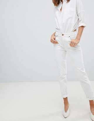 Pepe Jeans High Rise Violet Mom Jean-White