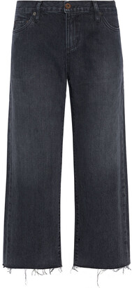Simon Miller Cropped Mid-rise Wide-leg Jeans
