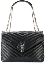 Saint Laurent large Monogram College bag - women - Leather/metal - One Size
