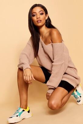 boohoo Oversized V Neck Sweater