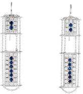 Moritz Glik 18K Sapphire and Diamond Drop Earrings