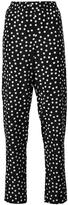 Dolce & Gabbana polka dot trousers - women - Silk/Cotton - 44