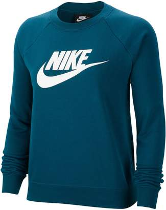 Nike Sportswear Essential Logo Cotton-Blend Fleece Sweatshirt