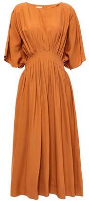 Co Pleated Woven Midi Dress