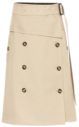 Proenza Schouler Trench cotton midi skirt