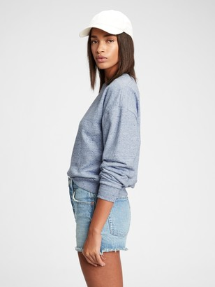 Gap Fleece Crewneck Drop Shoulder Sweatshirt