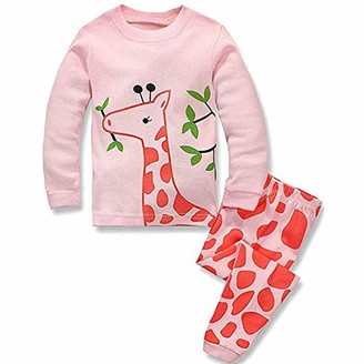 Weant Baby Clothes Girls Clothing Sets for 2-7 Years Weant Newborn Baby Clothes Outfits Lovely Cartoon Print Long Sleeve Tops + Pants 2pcs Pajamas Sleepwear Clothing Suit for Kids Toddler Infant Baby Outfits Gifts