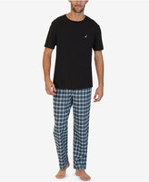 Nautica Men's Black Plaid Pajama Set