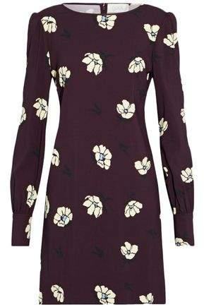 Goat Floral-Print Crepe Mini Dress