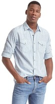 Gap Indigo stripe western shirt