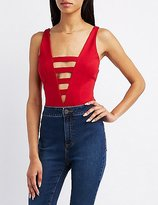 Charlotte Russe Plunging Caged Bodysuit