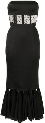 Alexis Verbena strapless textured dress