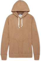 Junya Watanabe Corduroy Elbow-Patch Cotton and Camel Hair-Blend Jersey Hoodie