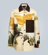 Acne Studios Osmar horse-print cotton overshirt