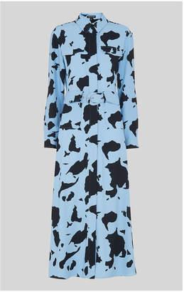 Whistles Cow Print Military Dress