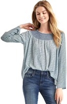 Gap Smock neck long sleeve blouse
