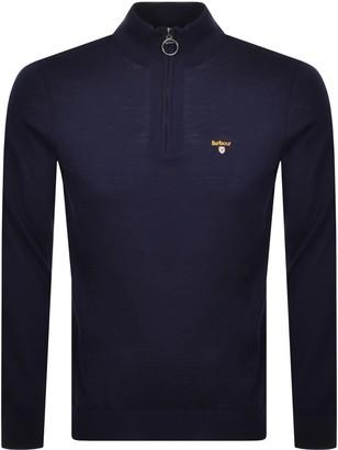 Barbour Half Zip Knit Jumper Navy
