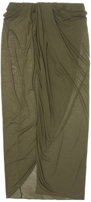 Helmut Lang Rushed Jersey Skirt