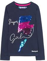 Desigual Girl's TS_Hamilton Long Sleeve Top,(Manufacturer size: 11/12)