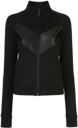 ALALA Panelled Zip-Up Sweatshirt