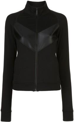 ALALA Panelled Zip-Up Sweatshirt
