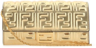 Fendi FF Motif Chain Wallet