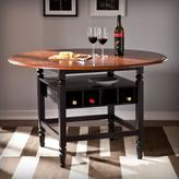Southern Enterprises Delma 48-1/4 in. W Round Dining Table in Brown Mahogany and Black Wood
