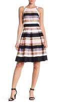 Nine West Sailor Stripe Fit & Flare Dress