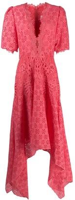 Costarellos Macrame Dress