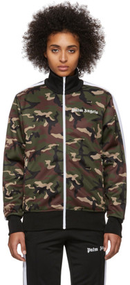 Palm Angels Green Camo Classic Track Jacket