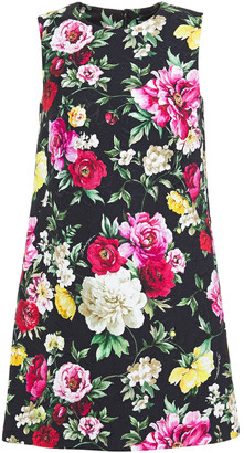 Dolce & Gabbana Floral-print Brocade Mini Dress