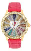 Betsey Johnson Heartburst Pink Watch