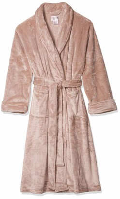 "Casual Moments Women's Plus Size 48"" Shawl Collar Wrap Robe"