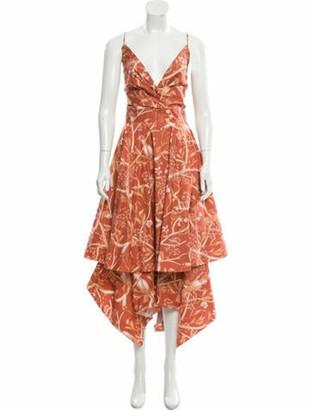 Johanna Ortiz Sleeveless Midi Dress Orange