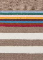 Paul Smith Men's Brown And Taupe Two-Stripe Socks