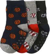 Joe Fresh Baby Boys' 3 Pack Sports Socks, Navy (Size 0-12)
