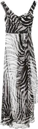 Dolce & Gabbana Zebra Print Sheer Maxi Dress