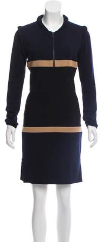 Stella McCartney Virgin Wool Mini Dress Navy Virgin Wool Mini Dress