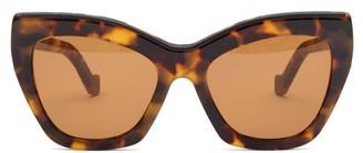 Loewe Cat-eye Tortoiseshell-acetate Sunglasses - Tortoiseshell