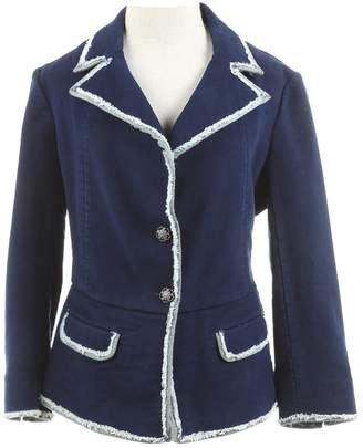 Chanel Blue Cotton Jackets