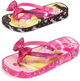 Barbie Kids Shoes, Girls or Little Girls Barbie Flip-Flops