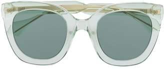 Gucci clear frame sunglasses